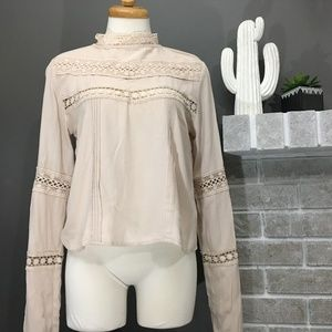 Lacey blush pink longsleeve